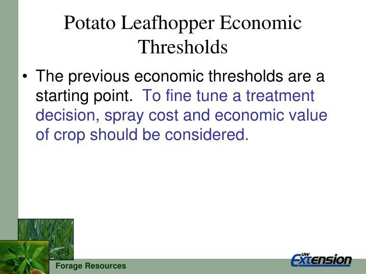 Potato Leafhopper Economic Thresholds