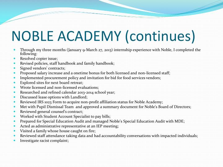 NOBLE ACADEMY (