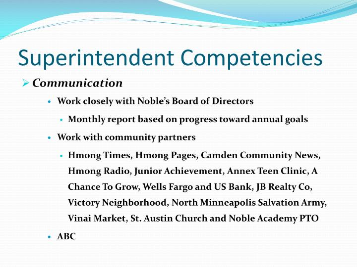 Superintendent Competencies