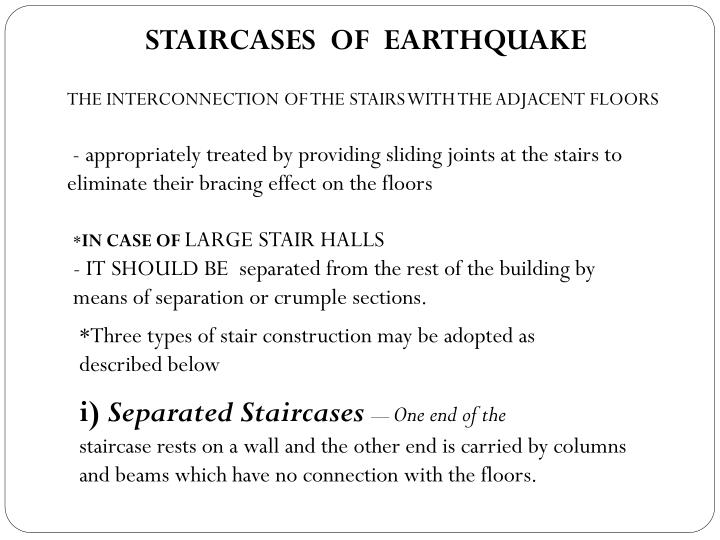 STAIRCASES  OF  EARTHQUAKE