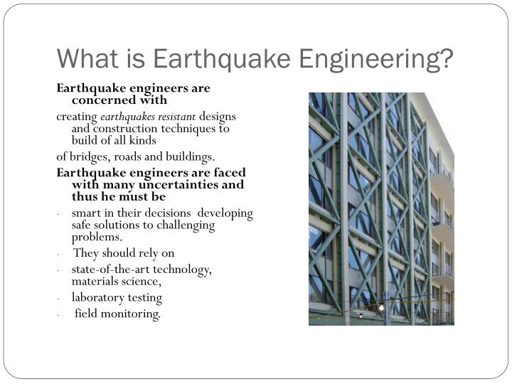 What is Earthquake Engineering?