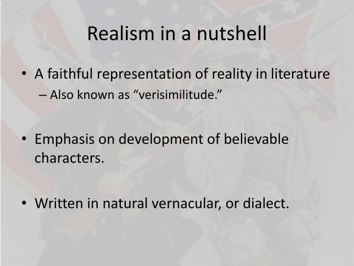 Realism in a nutshell