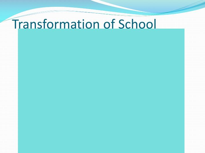 Transformation of School