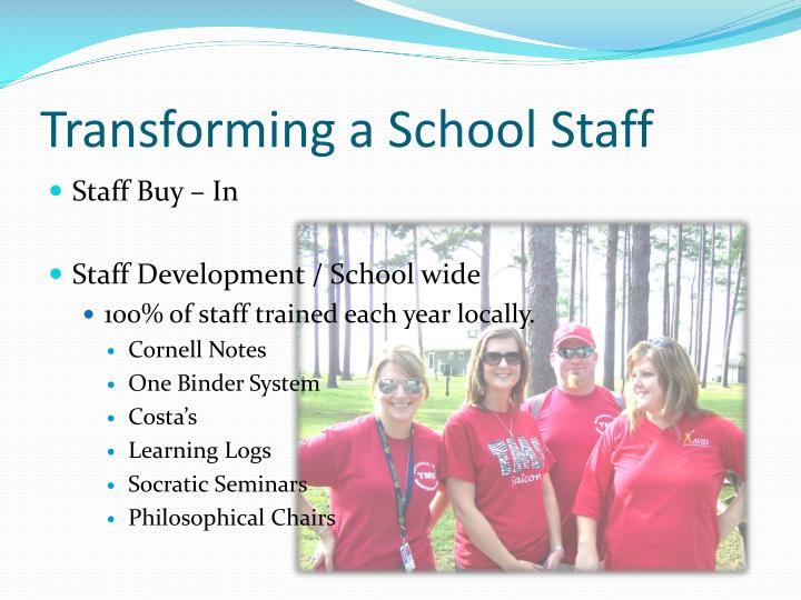 Transforming a School Staff