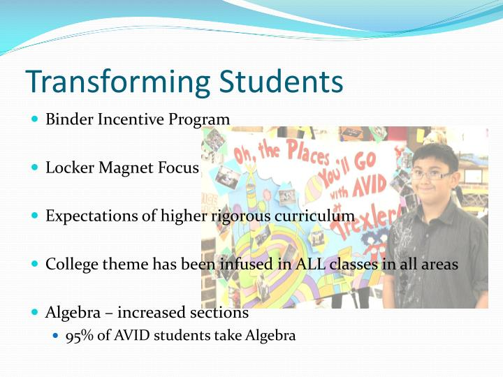 Transforming Students