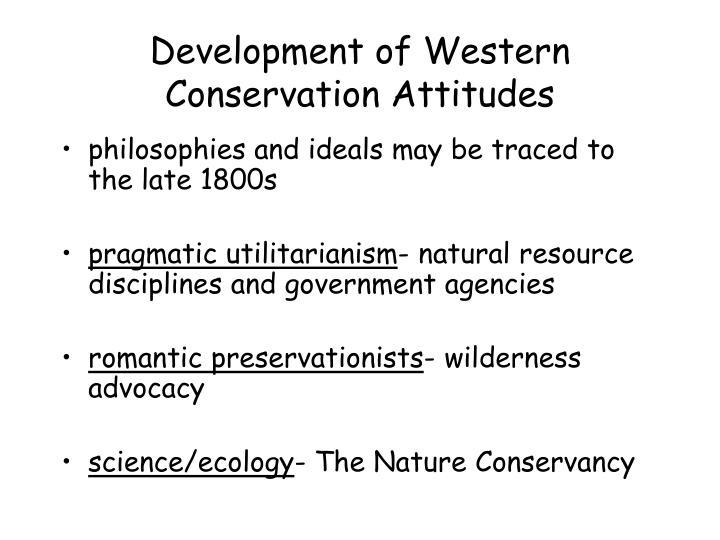 Development of Western Conservation Attitudes