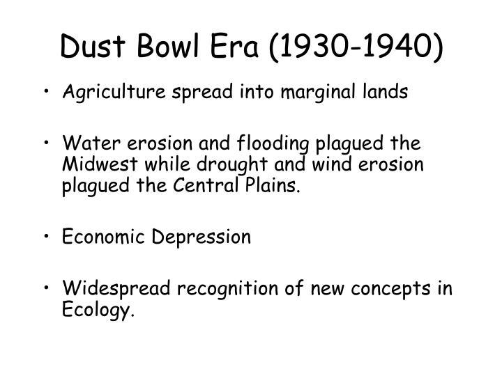 Dust Bowl Era (1930-1940)