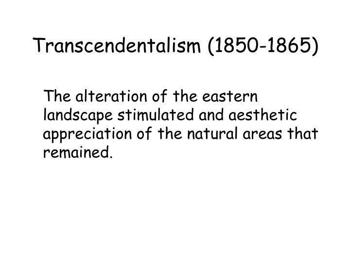 Transcendentalism (1850-1865)