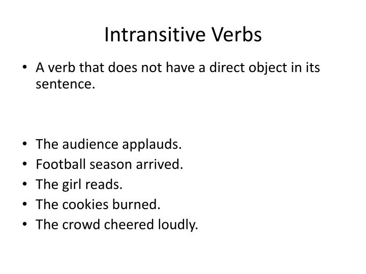 Intransitive Verbs