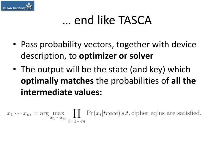 … end like TASCA