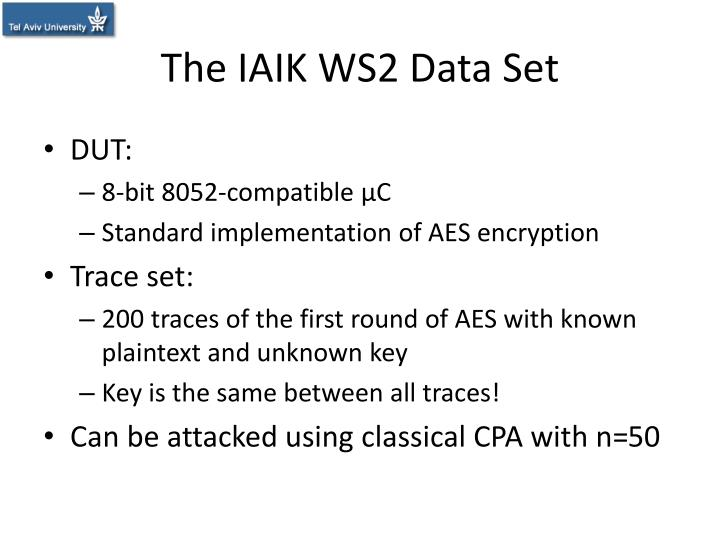 The IAIK WS2 Data Set