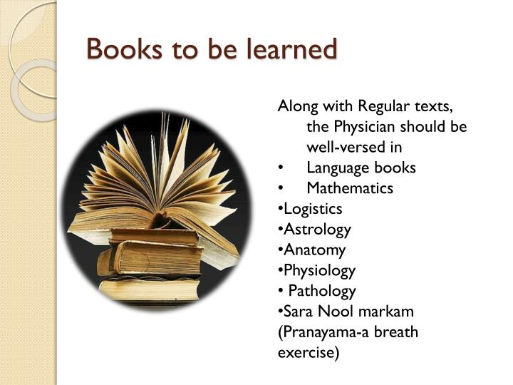 Books to be learned