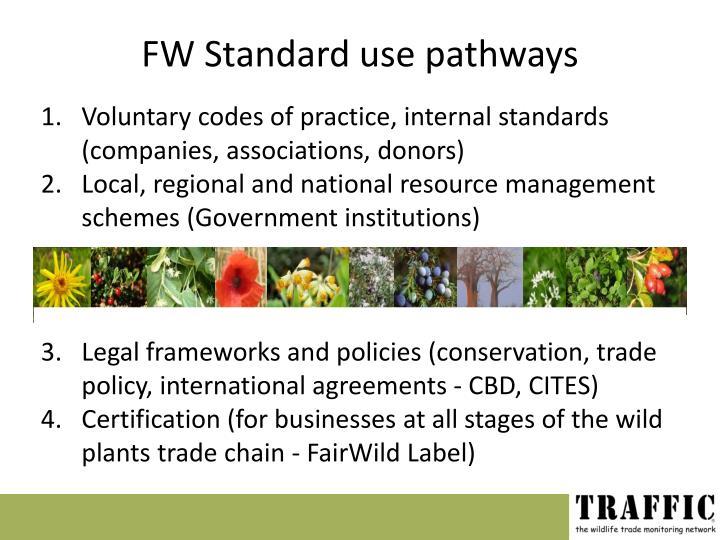 FW Standard use pathways