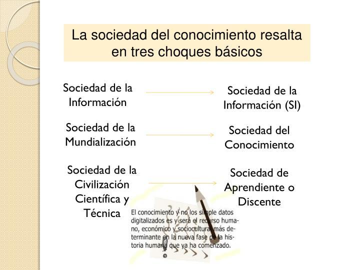 La sociedad del conocimiento resalta en tres choques básicos