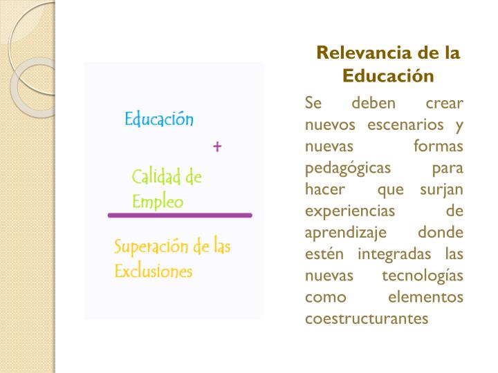 Relevancia de la Educación