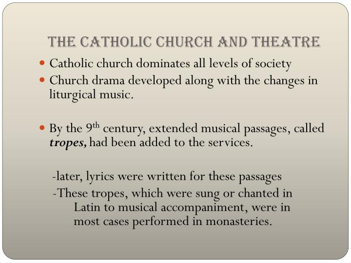 The Catholic Church and Theatre