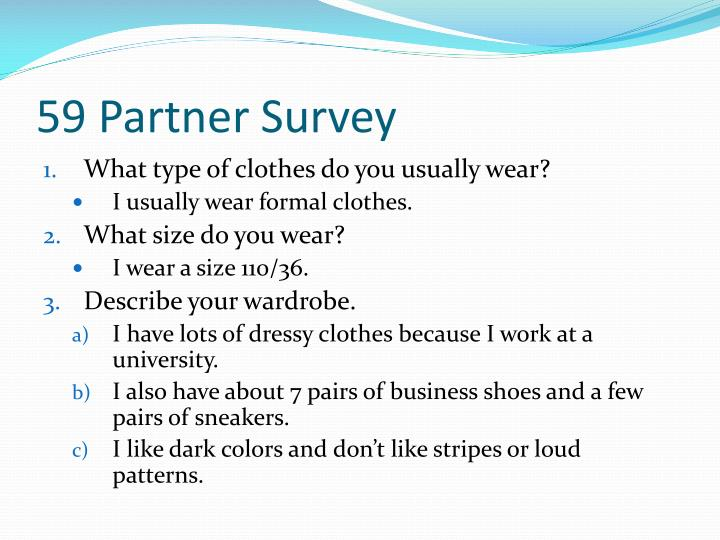 59 Partner Survey