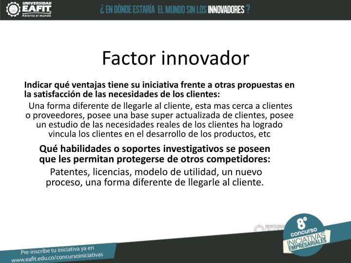 Factor innovador