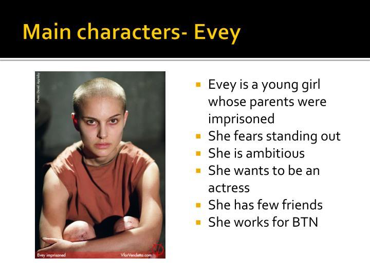 Main characters-