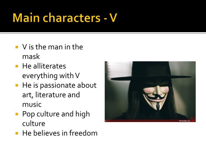 Main characters - V