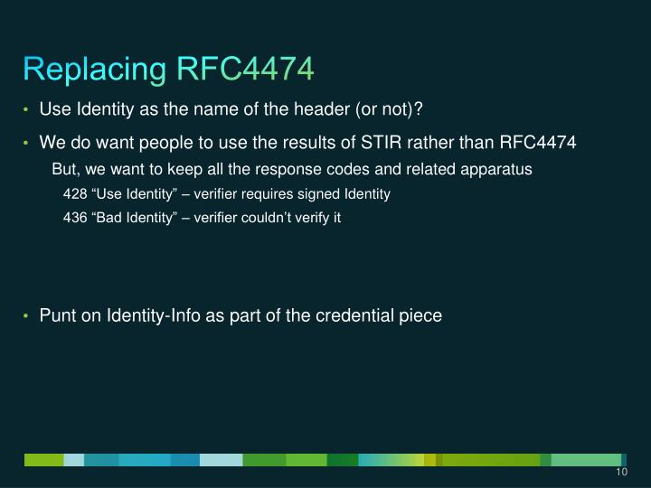 Replacing RFC4474
