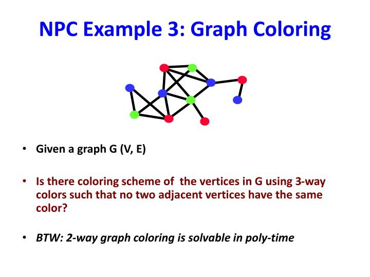 NPC Example 3: Graph Coloring