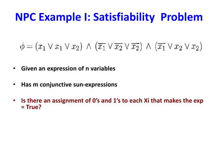 NPC Example I: