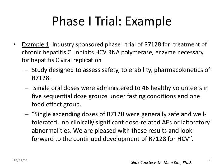 Phase I Trial: Example