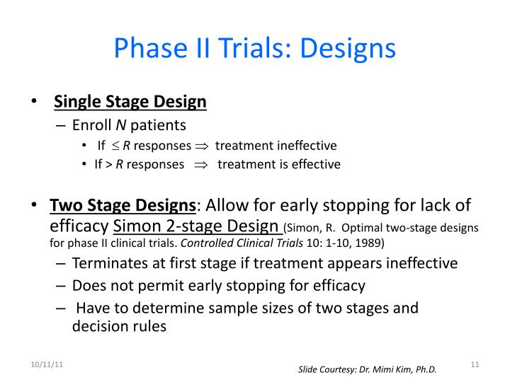 Phase II Trials: Designs