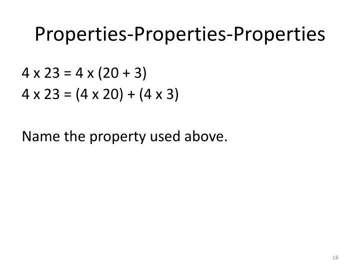 Properties-Properties-Properties