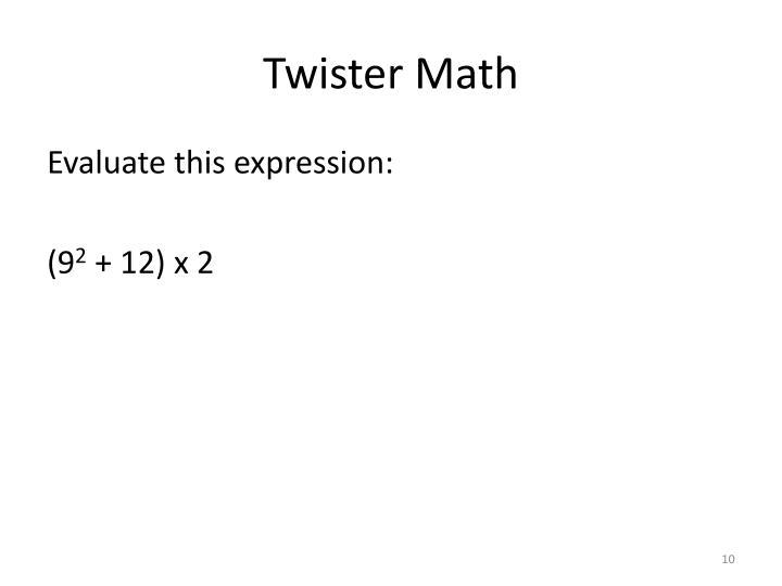 Twister Math