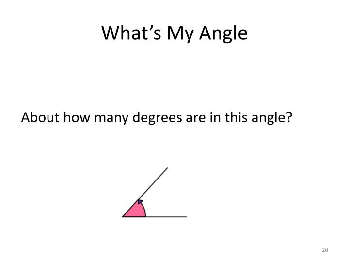 What's My Angle