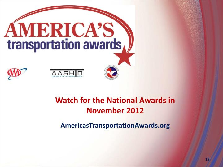 Watch for the National Awards in