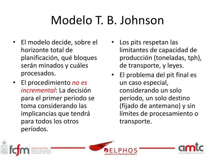Modelo T. B. Johnson