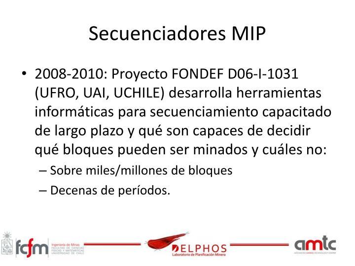 Secuenciadores MIP
