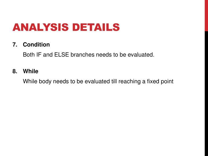 Analysis Details
