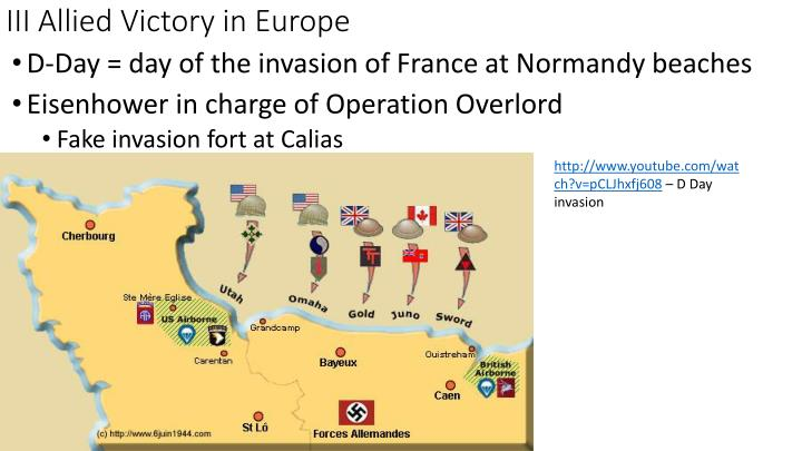 III Allied Victory in Europe