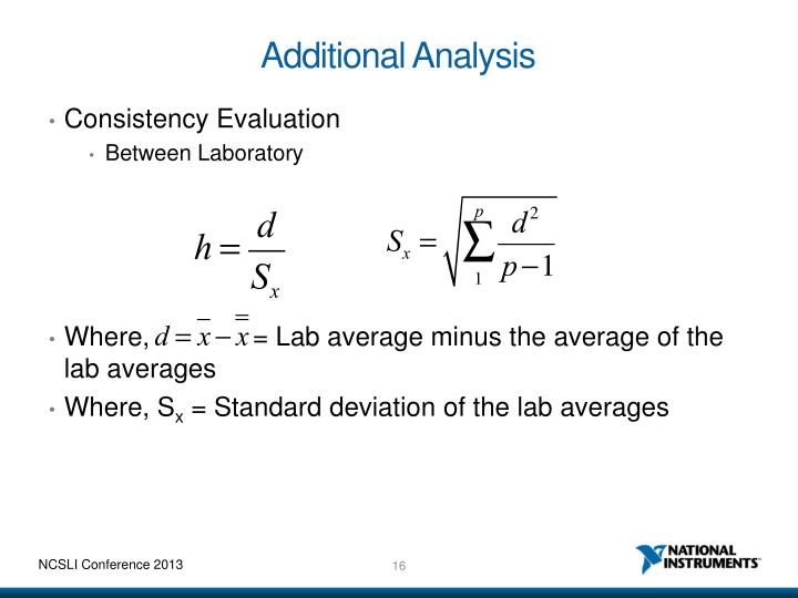 Additional Analysis