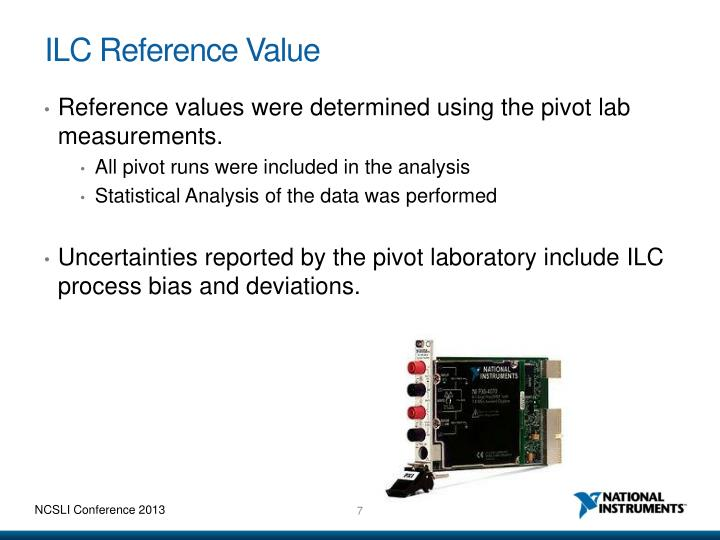 ILC Reference Value
