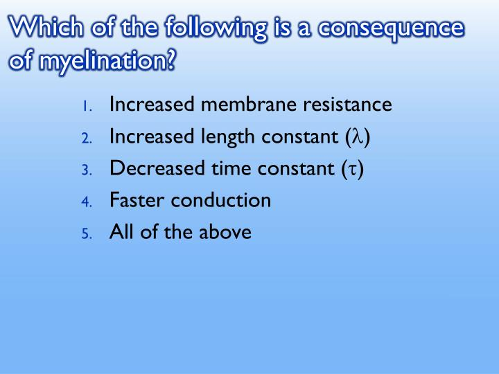 Which of the following is a consequence of