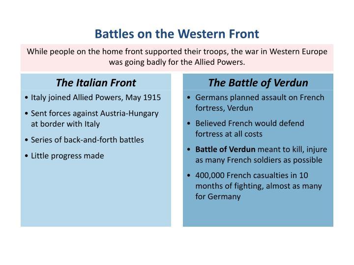 The Italian Front