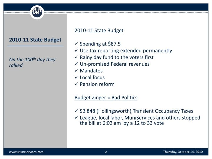 2010-11 State Budget