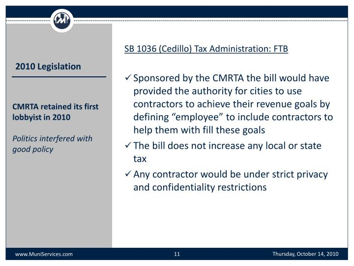 SB 1036 (Cedillo) Tax Administration: FTB