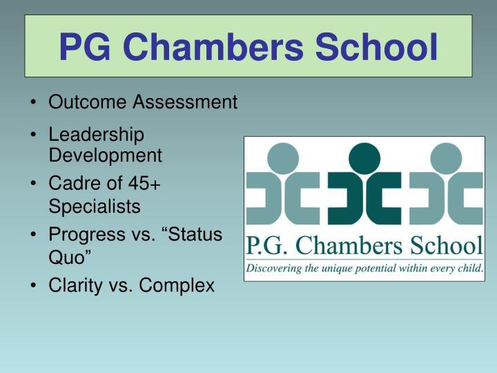 PG Chambers School