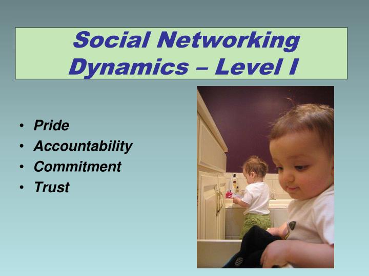 Social Networking Dynamics – Level I