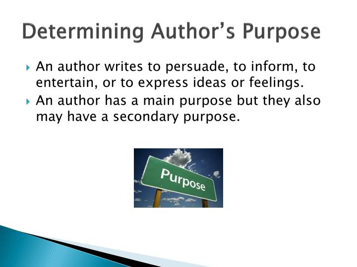 Determining Author's Purpose