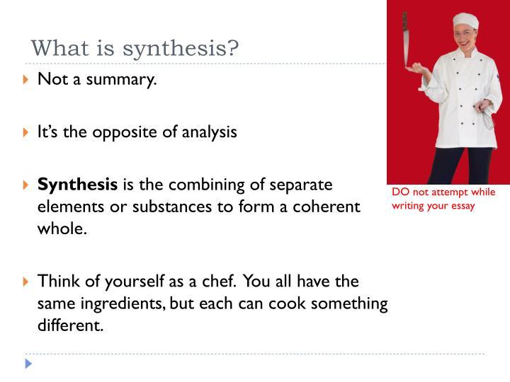 define sythesis
