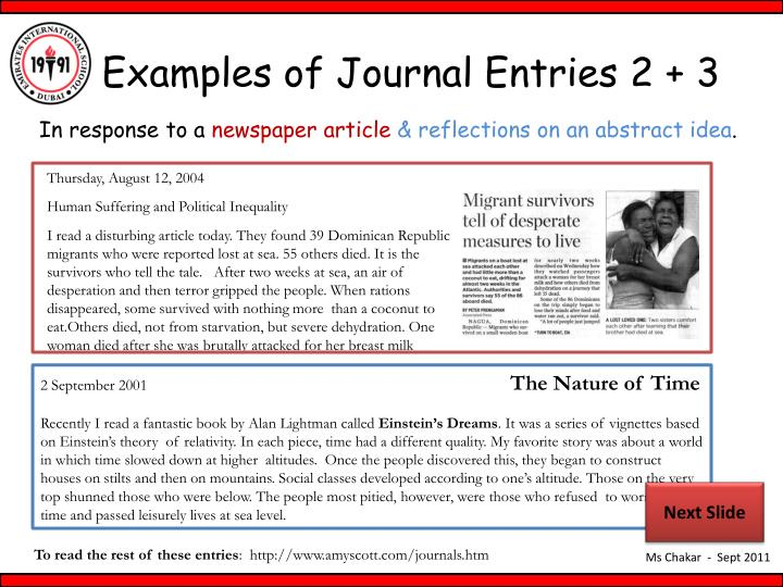 Examples of Journal Entries 2 + 3