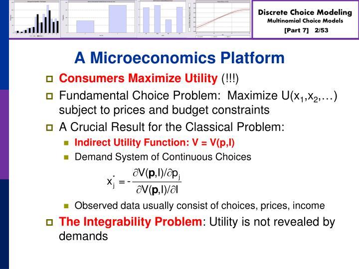 A Microeconomics Platform