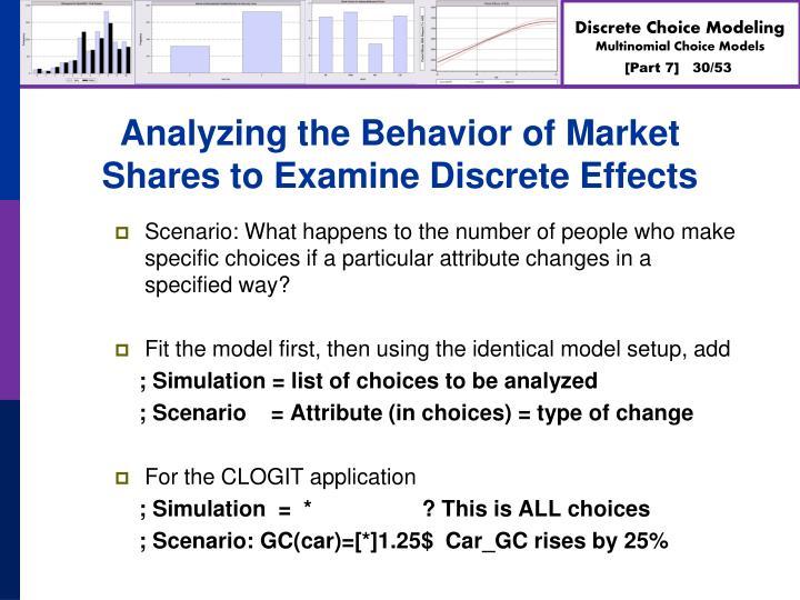 Analyzing the Behavior of Market